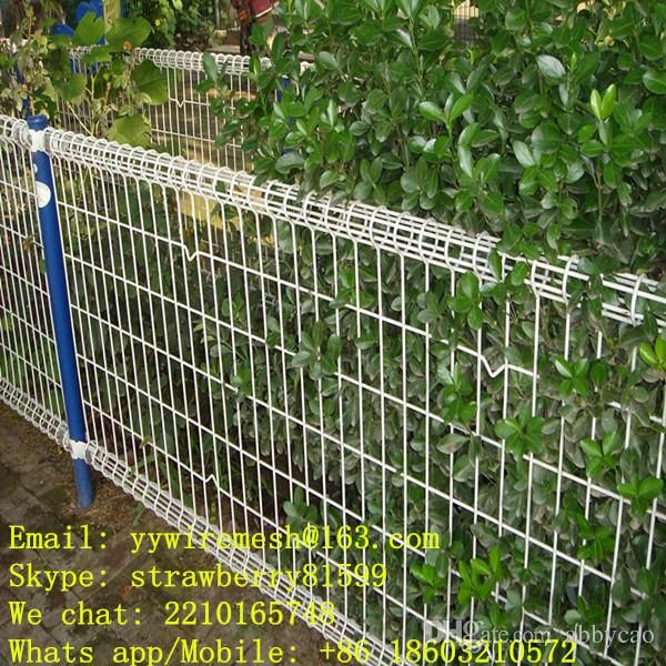 Black Vinyl Coated Wire Mesh Fence, 3 Folds, 50*100mm In Bending ...