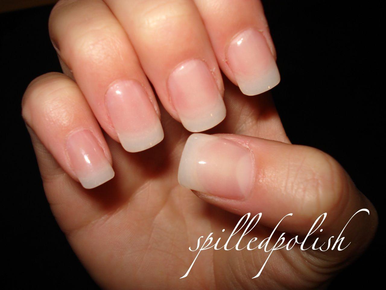 Clear Gel Nails Manicure Nail Polish Natural Acrylic