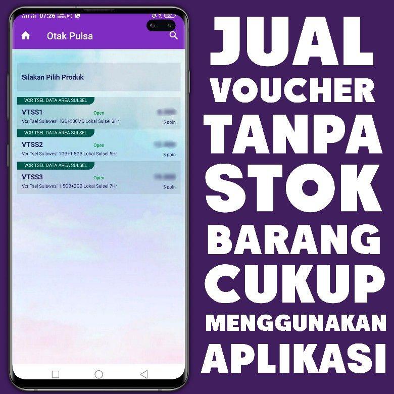 Voucher Telkomsel Aplikasi Startup E Commerce