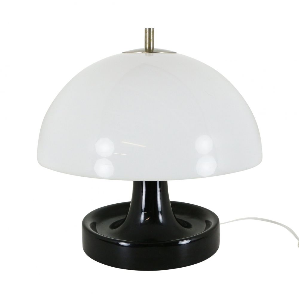 For Sale Quality Space Age Mushroom Table Light With Ceramic Base 1970s