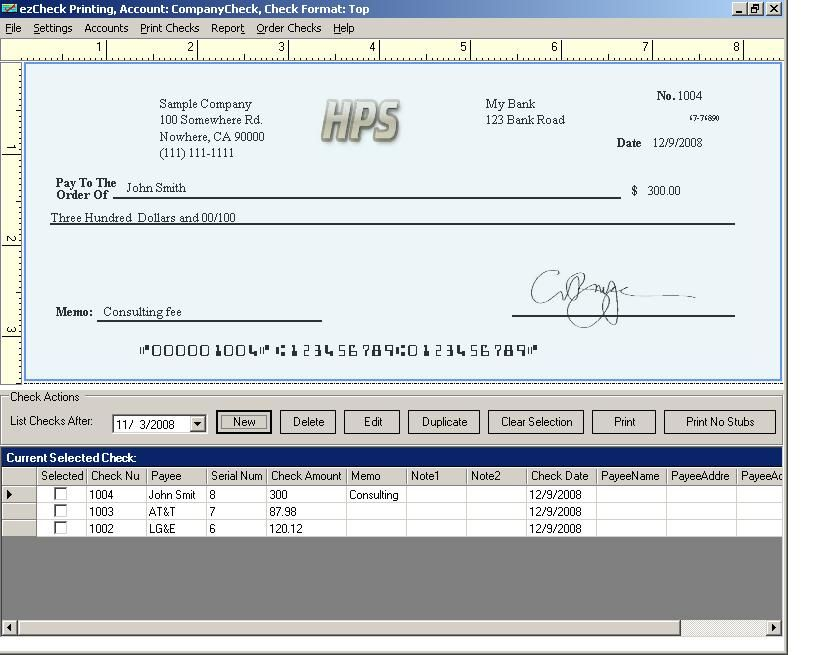 payroll check template Payroll checks, Payroll, Small