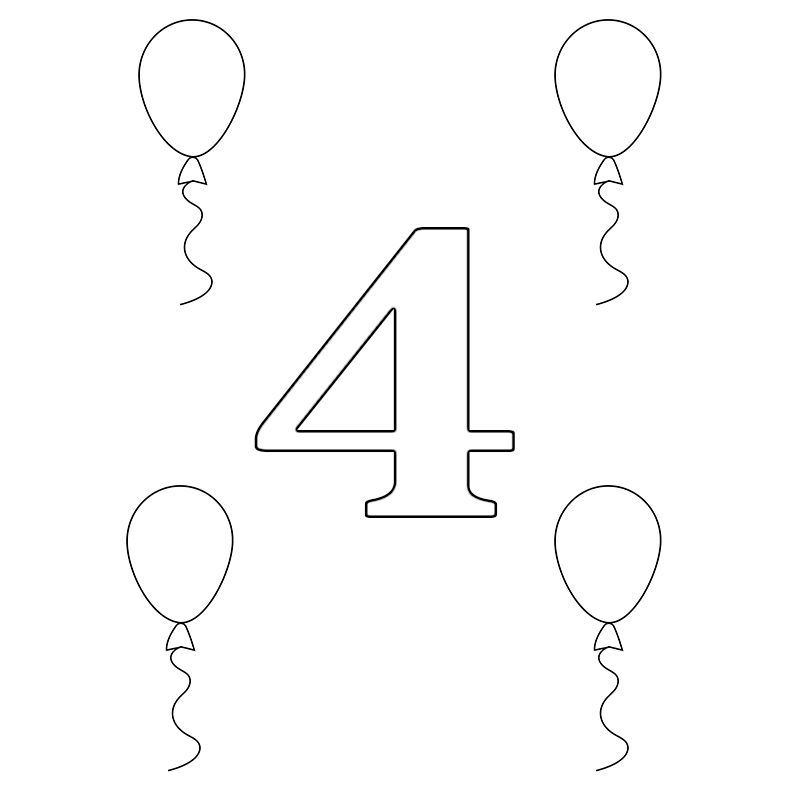 number 4 printable coloring pagespreschoolfor toddlers