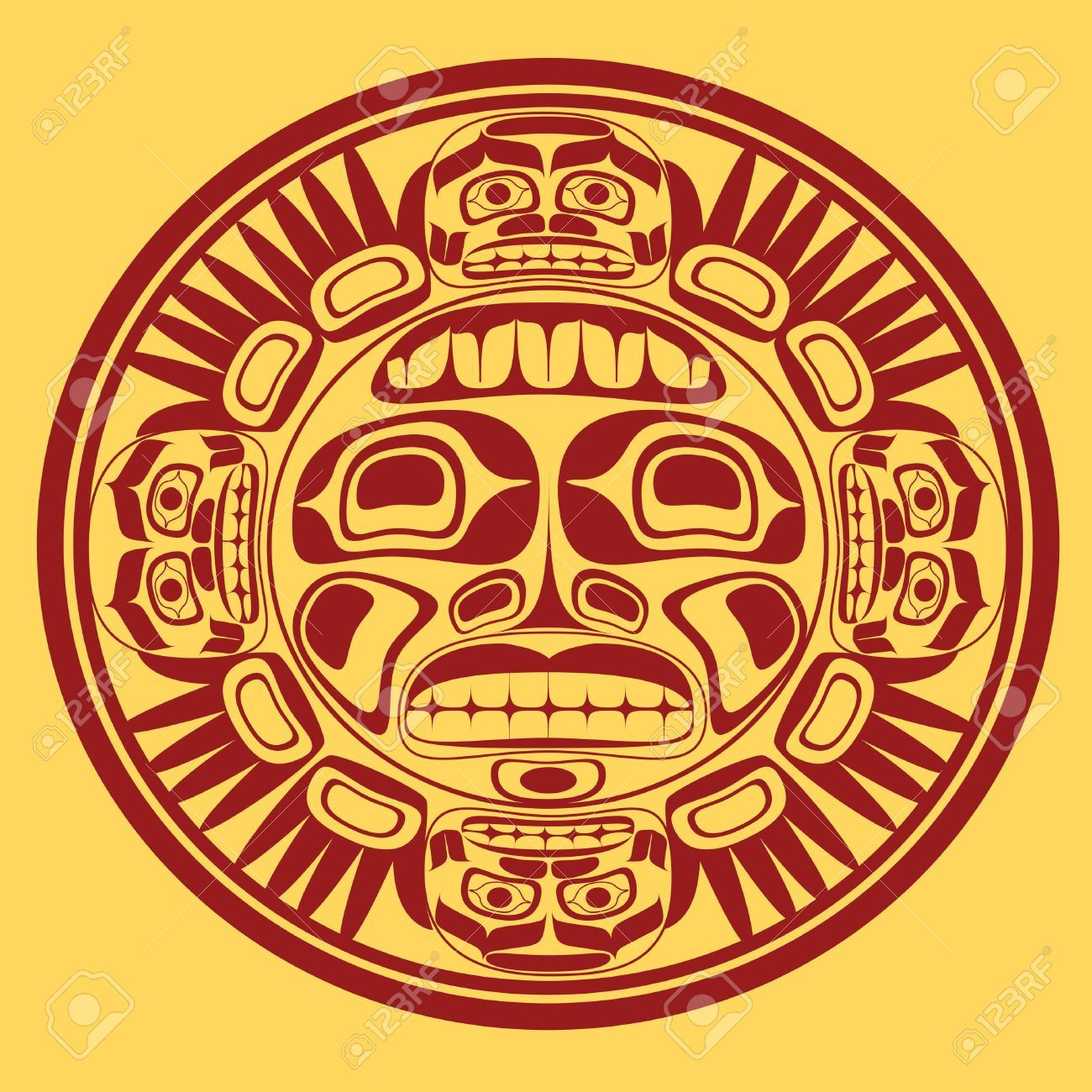Nw native sun symbol 16803704 sun symbol stylization of northwest vector illustration of the sun symbol modern stylization of north american and canadian native art in black and white biocorpaavc Images