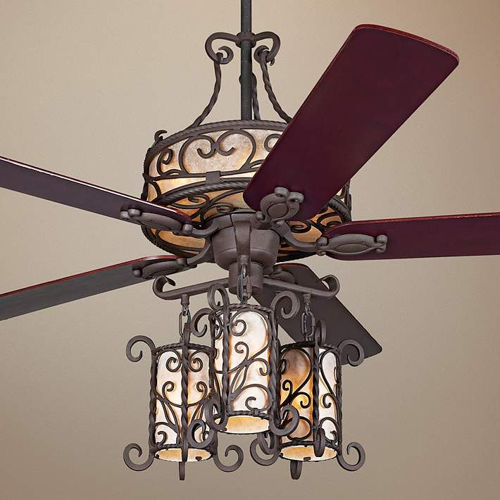 60 John Timberland Seville Light Kit Ceiling Fan 17d32 Lamps Plus Fancy Ceiling Fan Ceiling Fan Chandelier Ceiling Fan With Light