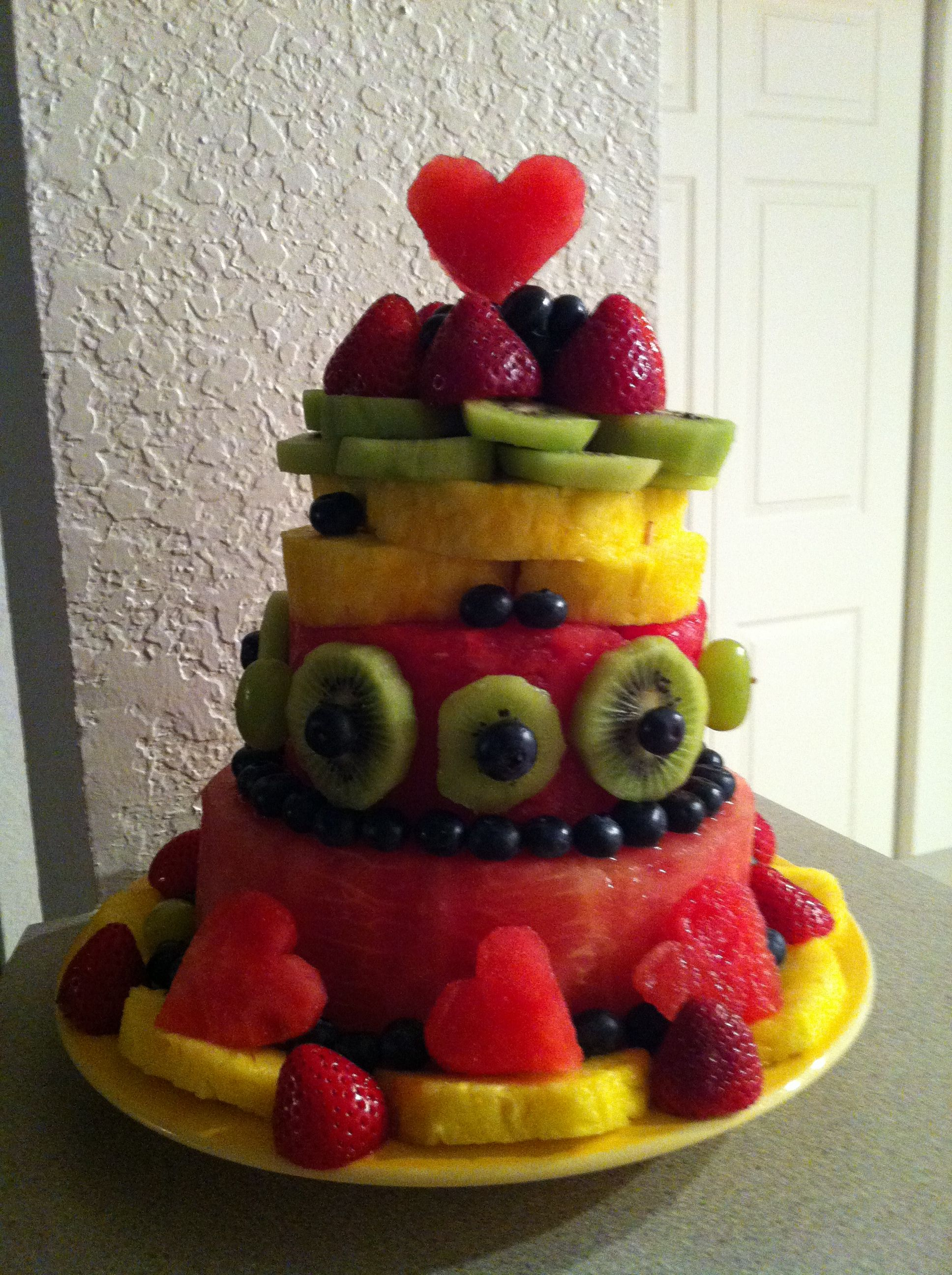 Cake With Fruit Birthday : Fruit Birthday Cake Food and Drink Pinterest
