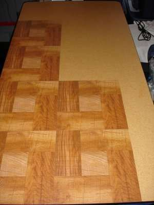Resurface A Particle Board Table With Stick On Tiles