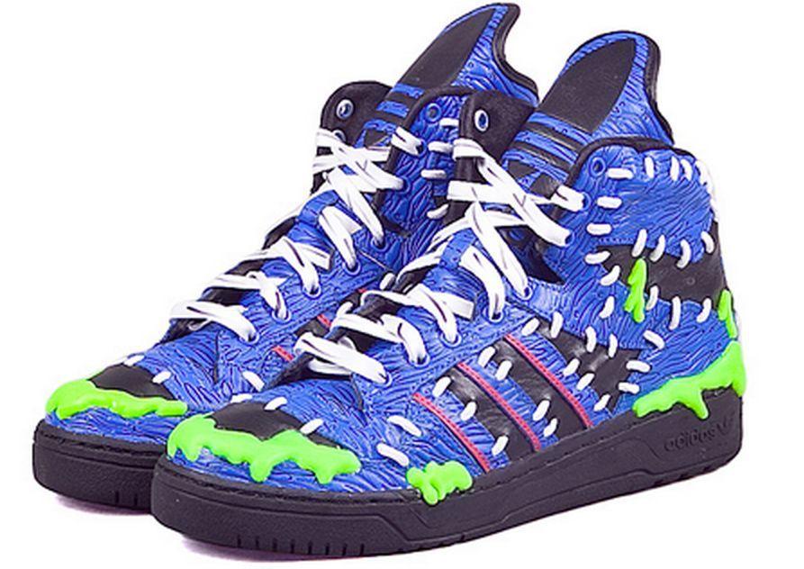 """4e95e7abcd21 NWB Adidas Originals x Jeremy Scott Mad Logo """"Frankenstein"""" Shoes M18992"""
