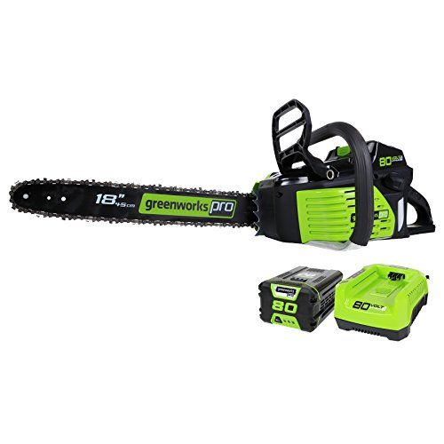 Power Chain Saws - GreenWorks Pro GCS80420 80V 18Inch Cordless Chainsaw 2Ah LiIon Battery and Charger Included >>> Read more reviews of the product by visiting the link on the image. (This is an Amazon affiliate link)
