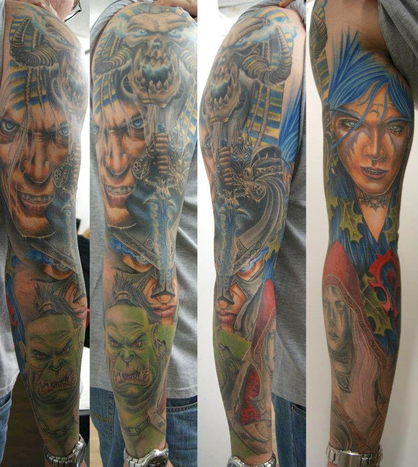 World Of Warcraft Tattoo World Of Warcraft Full Sleeve Tattoo