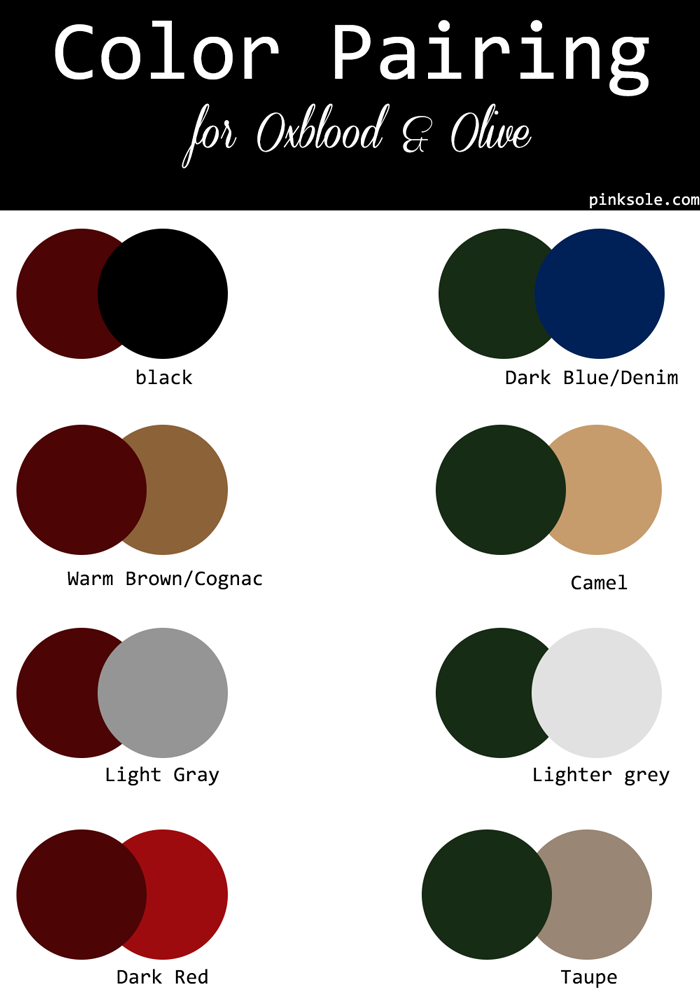 Color Crush :: Oxblood X Olive | Color combinations for ...