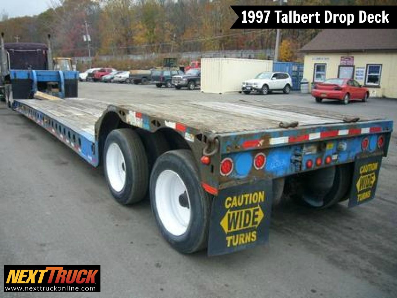 Our Featured Trailer Is A 1997 Talbert Drop Deck Trailer Wood Floor 2 Axles 102 Wide All Steel Wheels Check Out T Trailers For Sale Trailer Cool Trucks