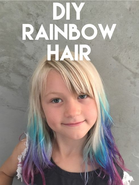 How to do DIY ombre rainbow hair tips at home | Hairy | Pinterest ...