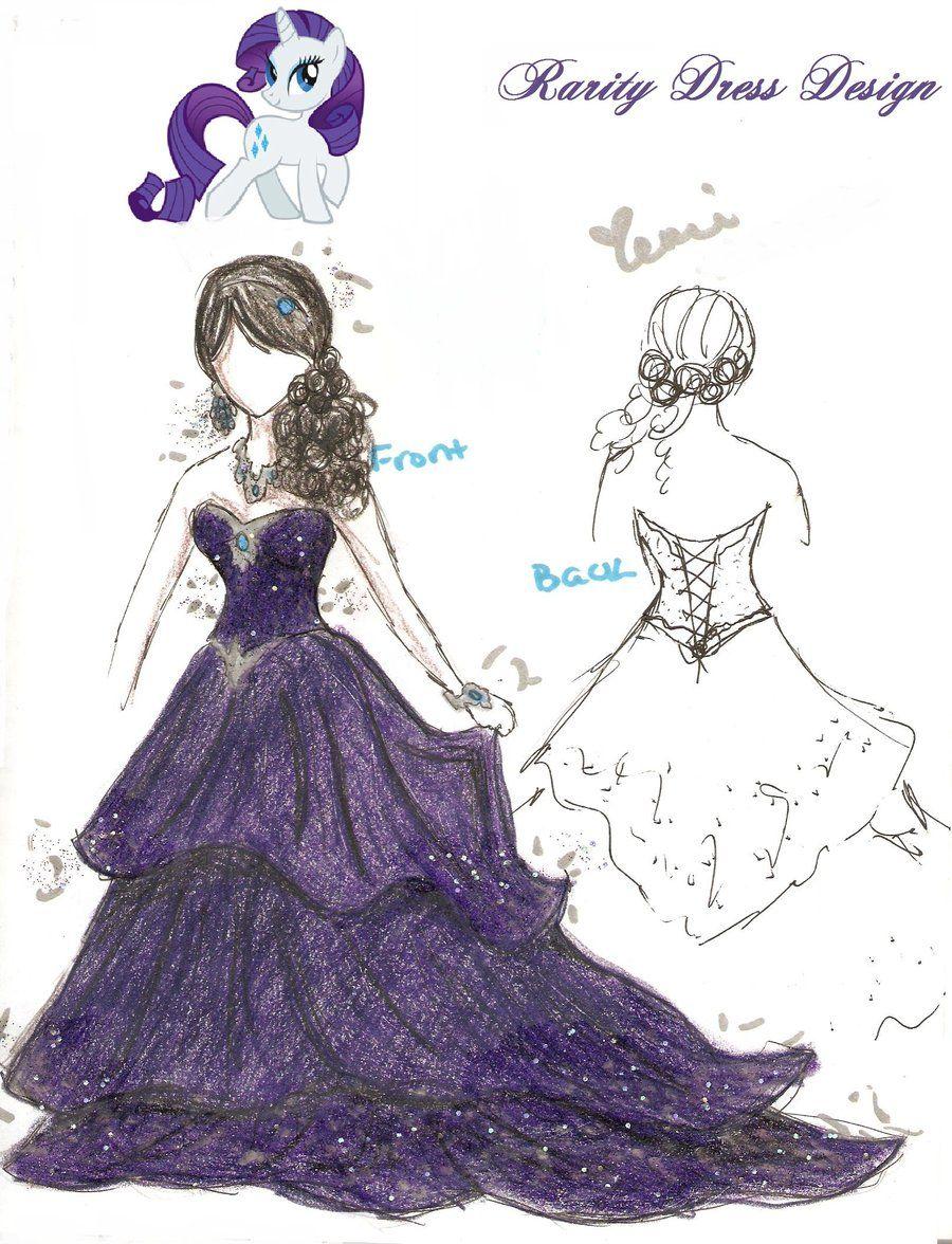 Rarity Dress Design By On Deviantart Rarity Pinterest Rarity