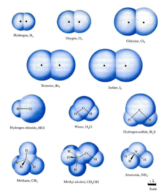 Molecules And Atoms Two bonded atoms appear to | Matter | Chemistry