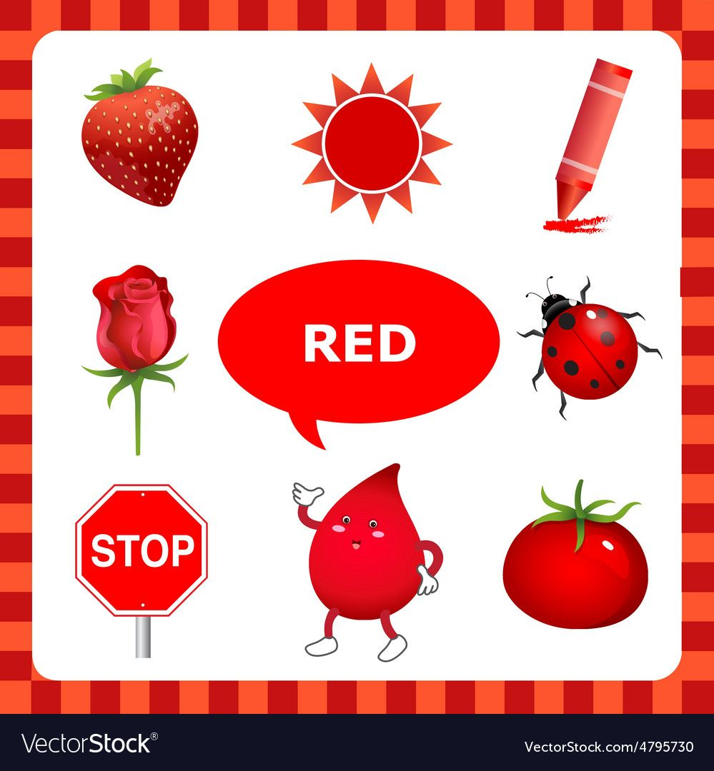 Red Things red color vector