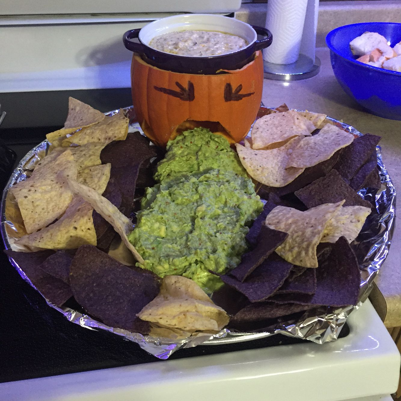 Halloween Food Puking Pumpkin Cheese Dip Brains And