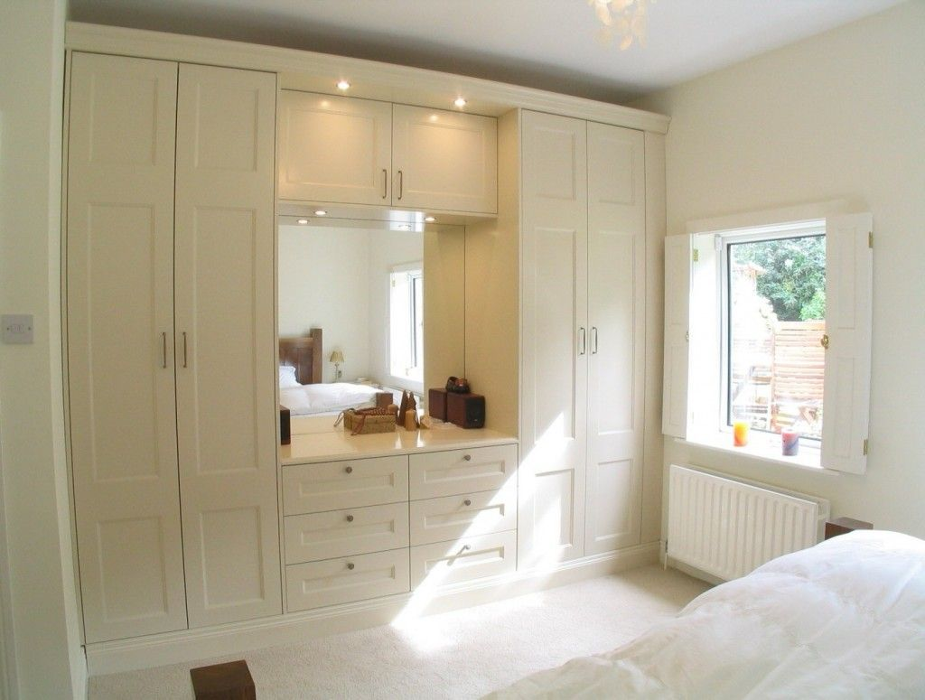 Built In Sleek Wardrobe Completed With Dressers Two Tower