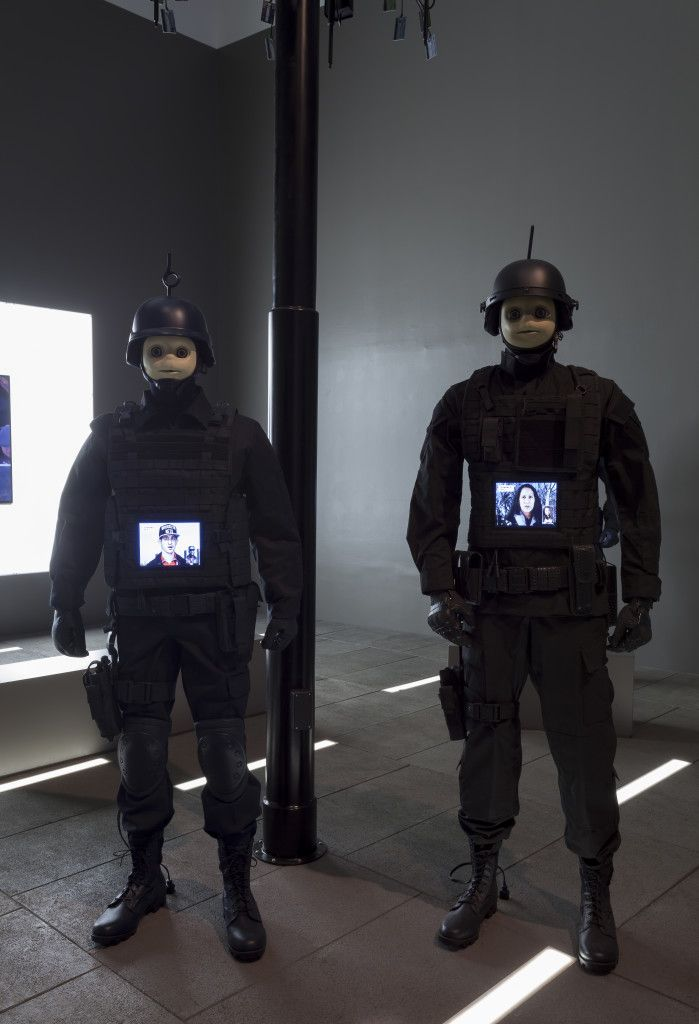 Josh Kline Freedom, 2015 (installation view, New Museum, New York) Installation, various media Image courtesy of 47 Canal, New York. Photo: Joerg Lohse.