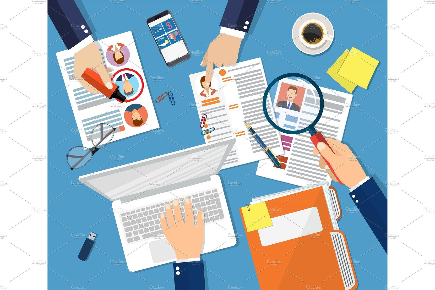 Human resources management concept Human resource