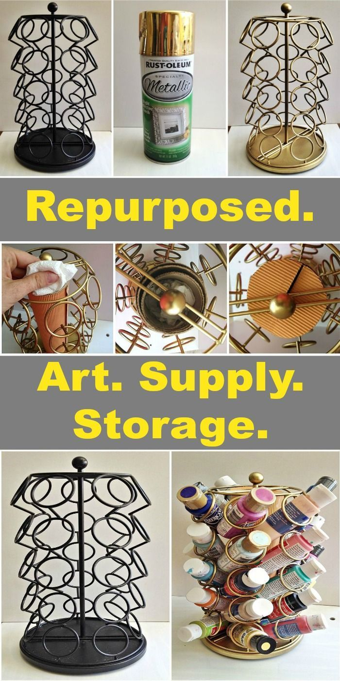 Keurig Cup Carousel Repurposed Art Supplies Storage Diy And