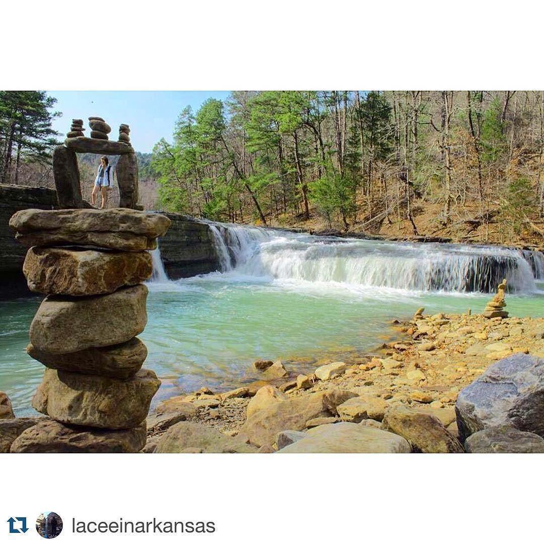 #hawcreekfalls  @laceeinarkansas #arkansas #waterfall #chasingwaterfalls #nature #getoutside #outside #outdoors #natureart #artnature by wonderfularkansas