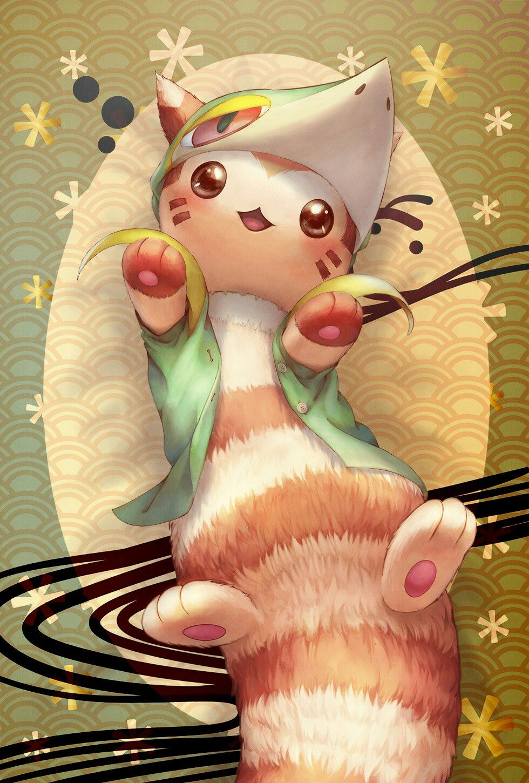 Serperior Furret Cute Pokemon Wallpaper Pokemon Anime