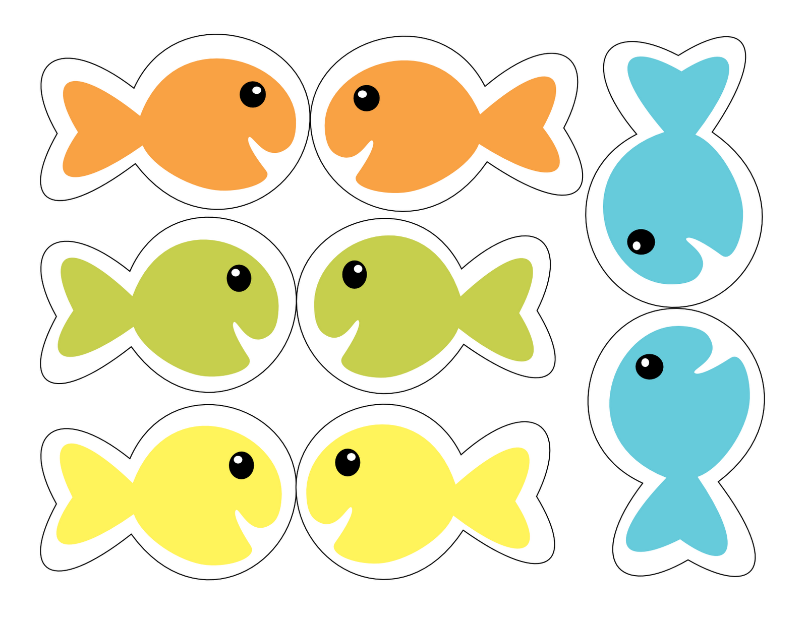 printable fish template free