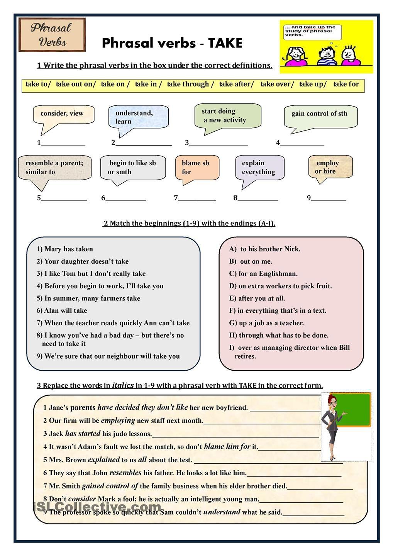 Phrasal Verbs Take English Words Learn English English Verbs [ 1440 x 1018 Pixel ]