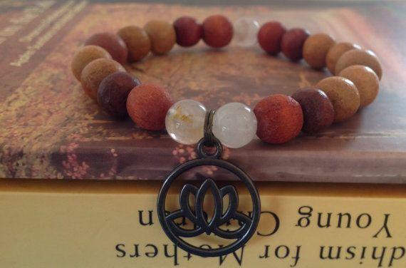 Rose Quartz  Lotus focus band yoga custom fit simple by Yashodara