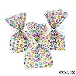 One dozen 12 easter egg cellophane goody bagscello giftloot fill these freshly colored cellophane easter egg goody bags with small toys and treats put alongside an easter place setting or give negle Gallery
