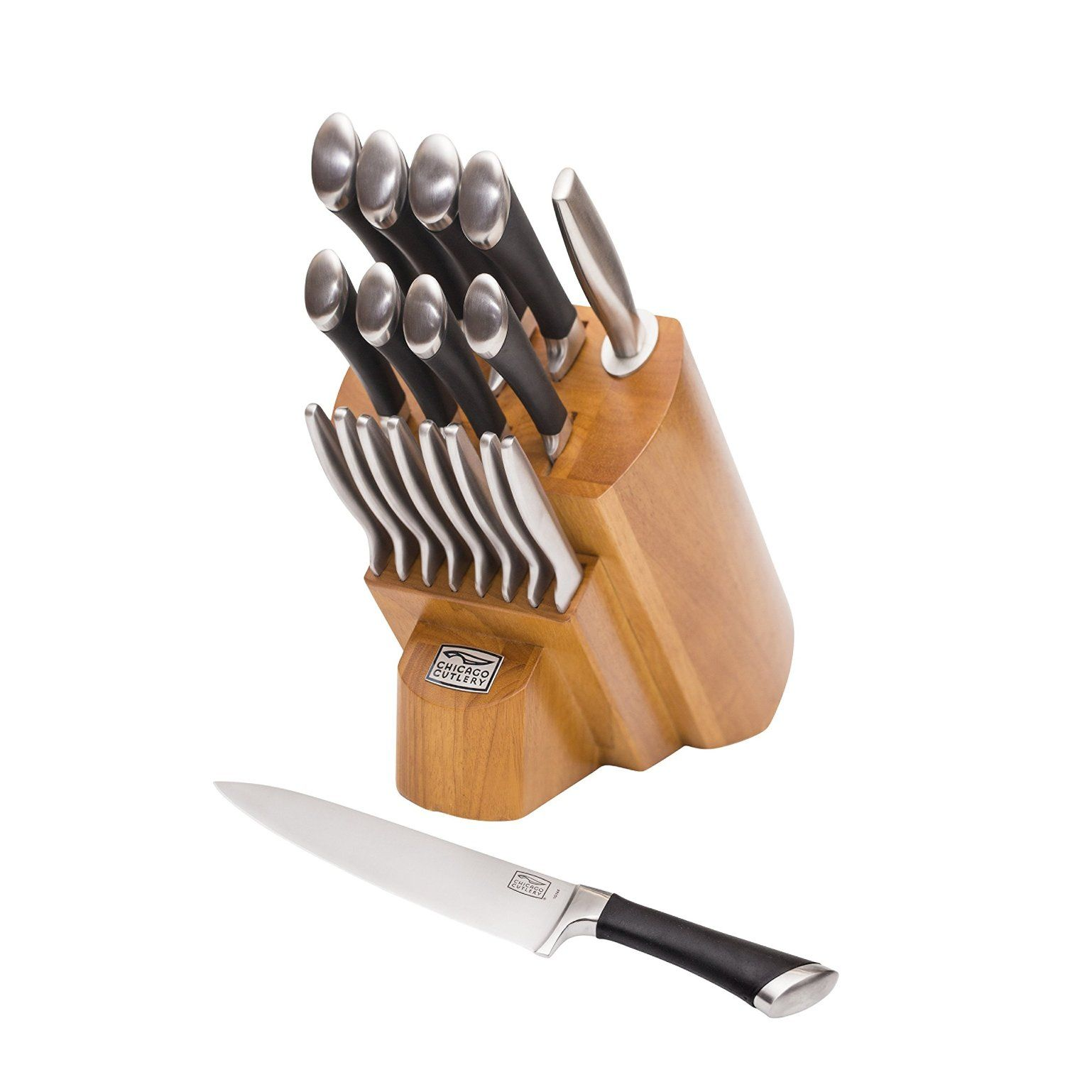 Uncategorized Amazon Kitchen Knives chicago cutlery 1119644 fusion forged 18 piece knife block set stainless steel