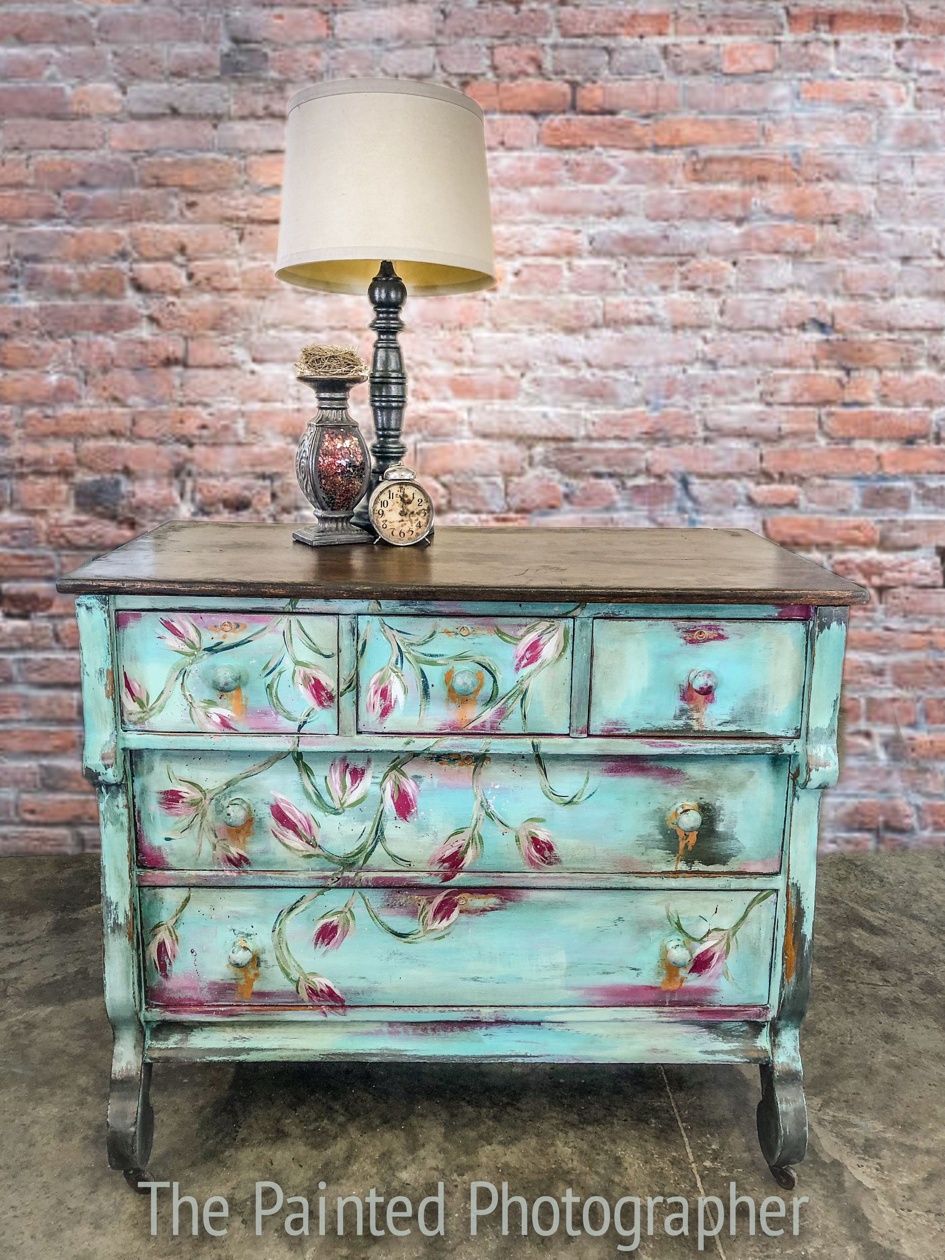Beautiful Hand Painted Empire Dresser Using Diy Paint In Old 57