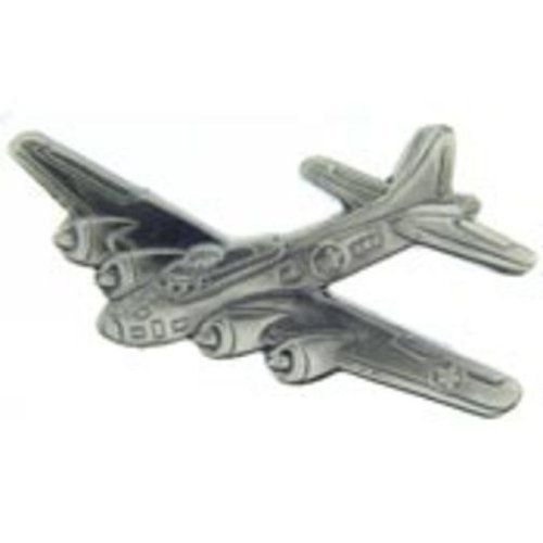 Empire Pewter F16 Airplane Flag Pewter Pin