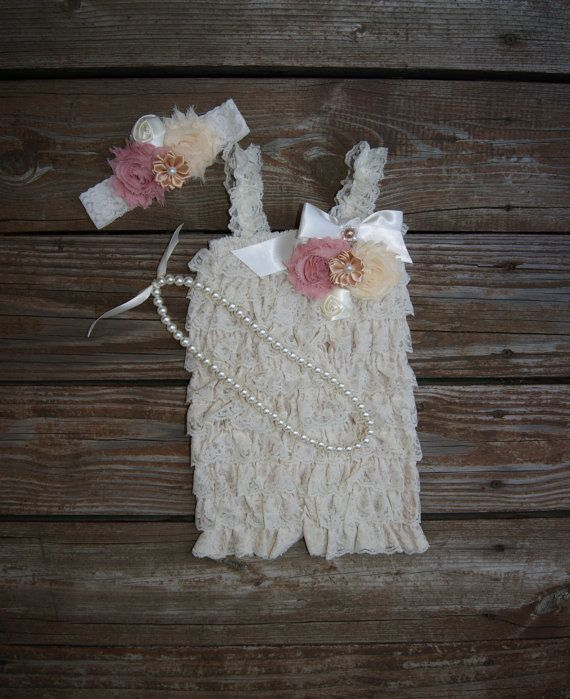21327ff01c4 Girls first birthday outfit. Lace Romper Girls by KadeesKloset ...