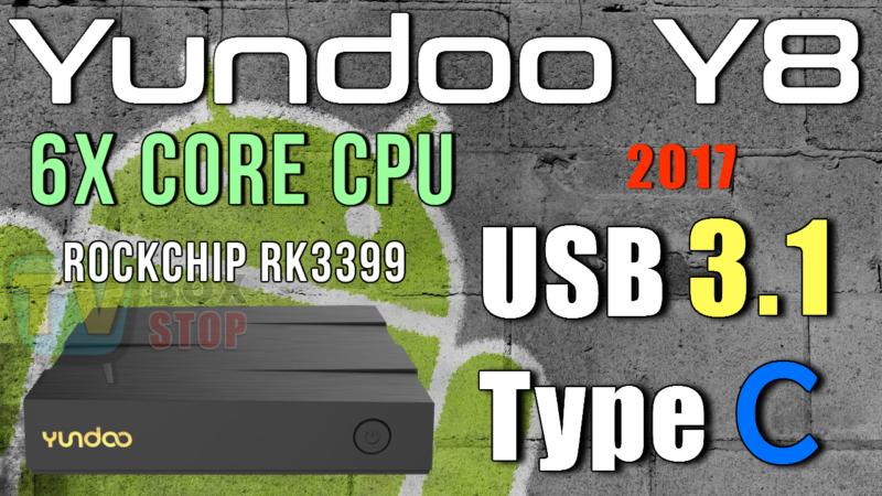Yundoo Y8 Android TV Box – Rockchip RK3399 Hexa Core USB 3 1