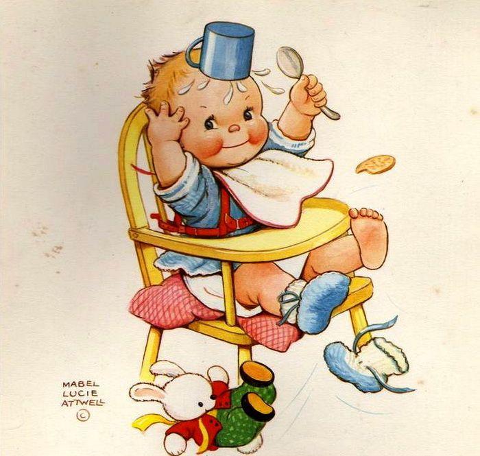 Mabel Lucie Attwell | Винтажные иллюстрации, Милые рисунки ...