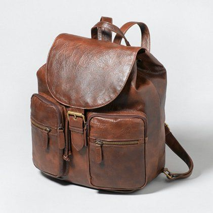 A Little Leather Backpack in vintage-chic brown | What's In Your ...