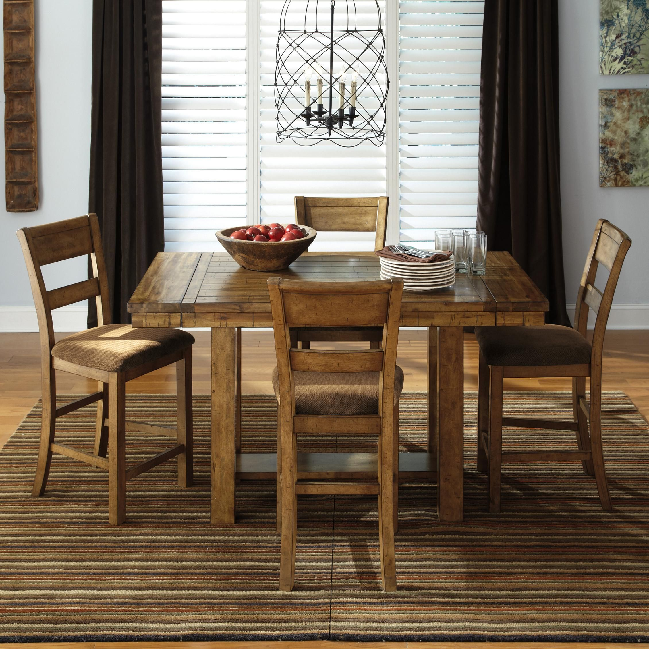 Matt 5 Piece Counter Extension Table Set By Styleline Counter Height Dining Room Tables Dining Room Design Dining Furniture