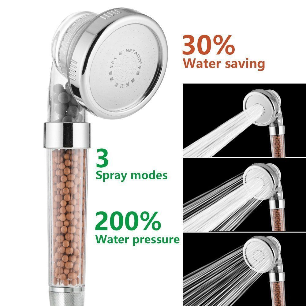 Ionic Filter Shower Head With Ion Mineral Balls High Pressure 3