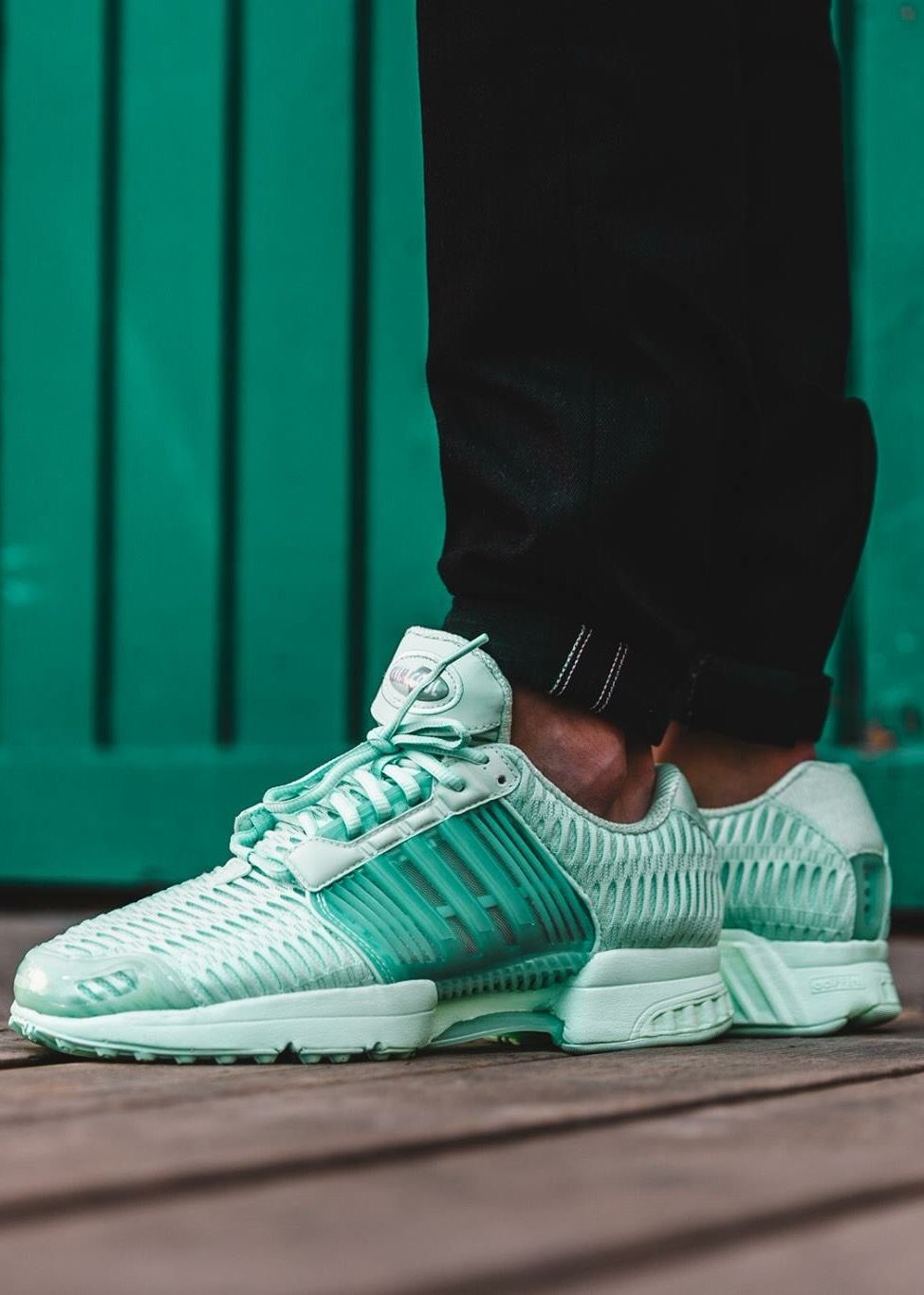 adidas originals white and aqua climacool trainers