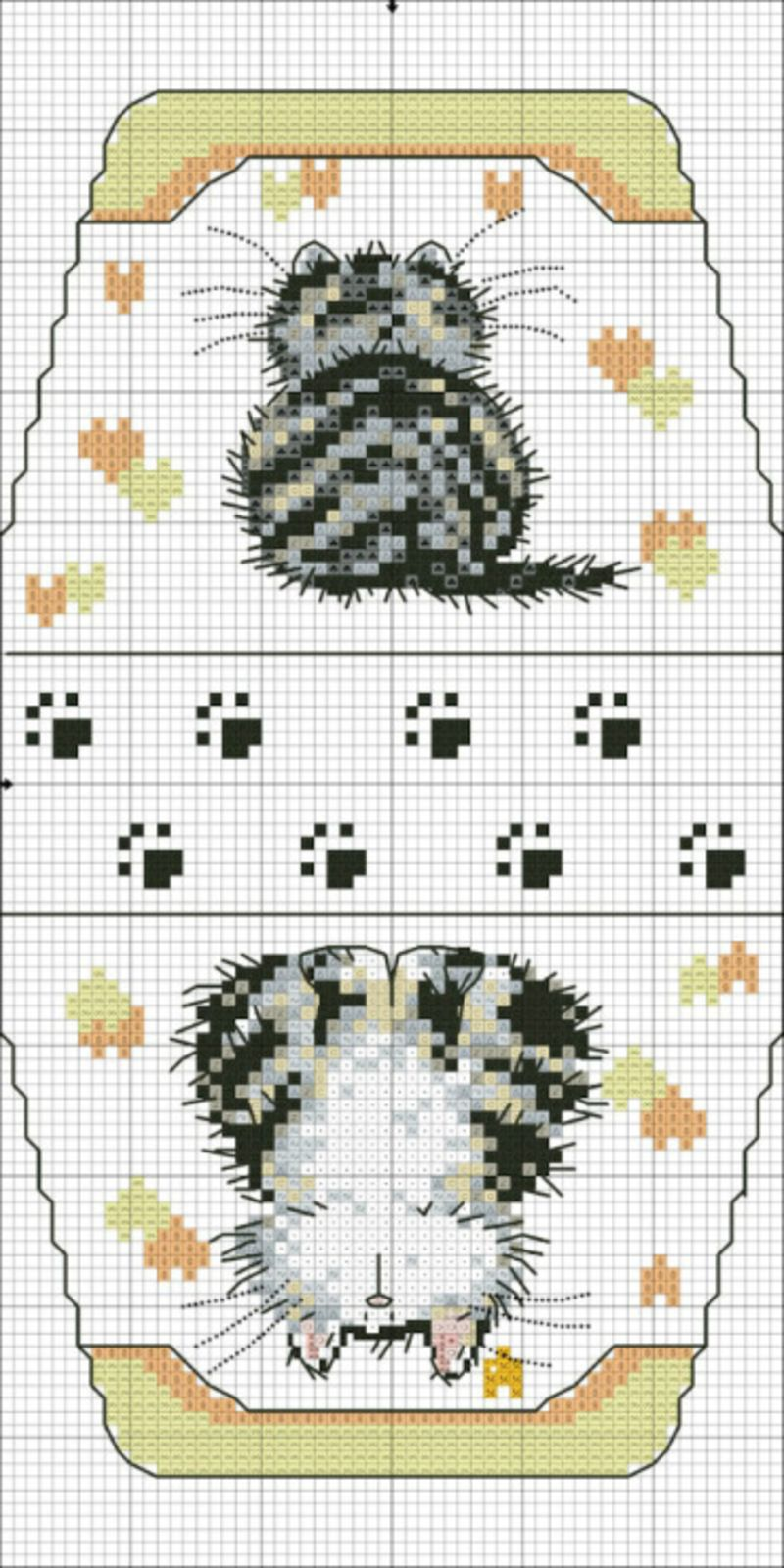 Small Bag with Cat • haven\'t checked to see if the pattern chart is ...