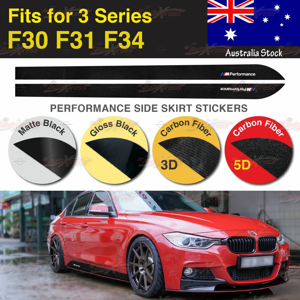 M Performance Side Skirt Vinyl Decal Stickers For Bmw F30 F31 F34 3 Series Au Bmw Vinyl Decals Vinyl Decal Stickers