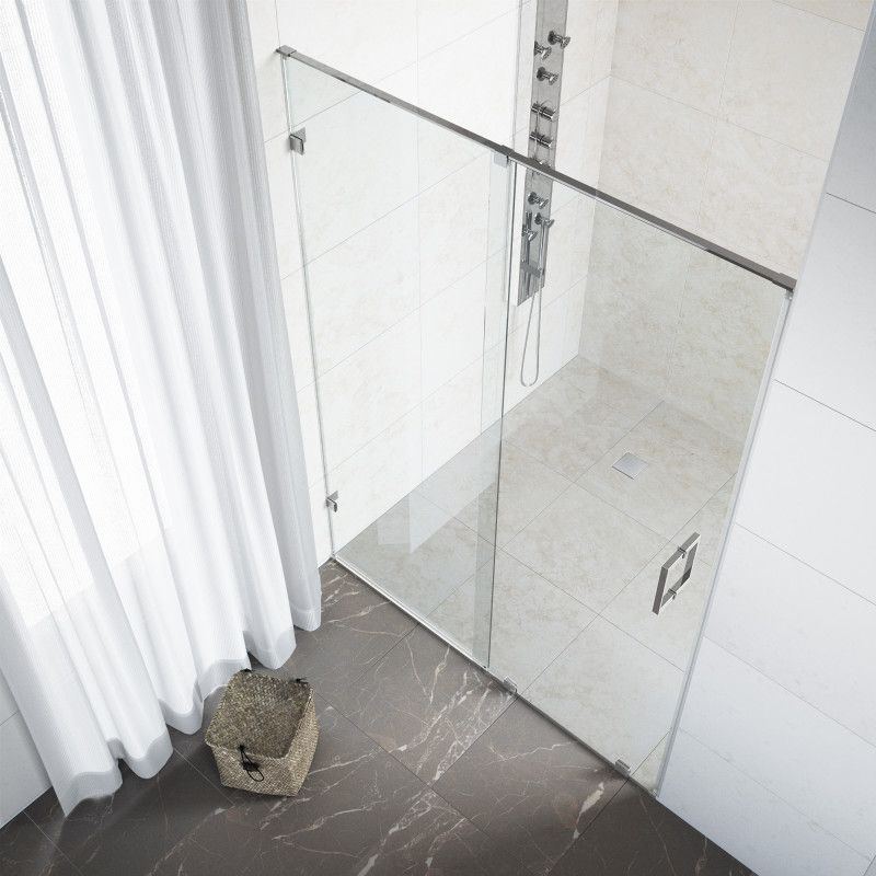 Vigo Ryland Adjustable Frameless Sliding Shower Door Vigo