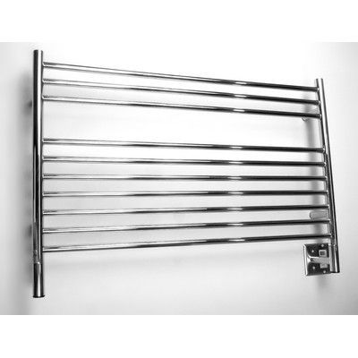 Amba Jeeves Wall Mount Electric L Straight Towel Warmer Finish: Polished