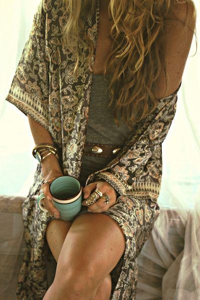 Kimono Caftan Style Inspiration // For lazy sundays