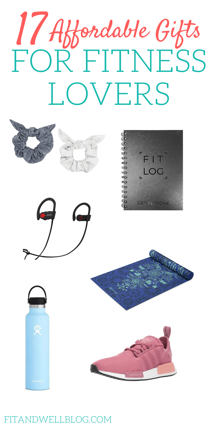 Affordable fitness gift ideas for fitness lovers! Any gal who loves fitness and healthy living will...