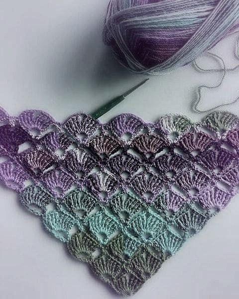 haekelmuster avola - Life ideas #scarves
