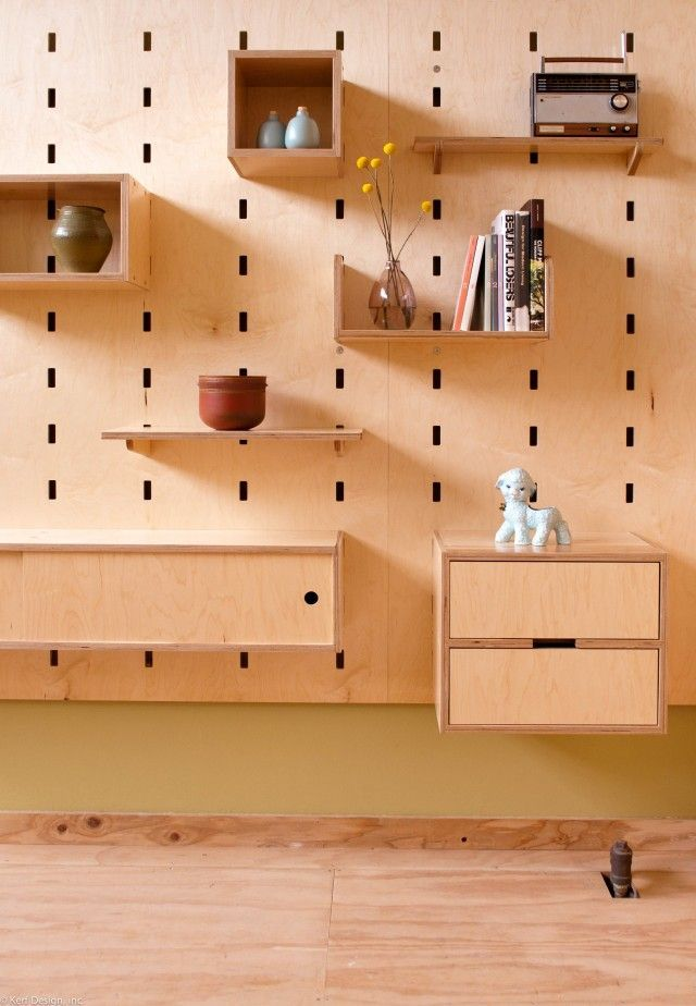 Kerf Wall Is A New Ajule Mounted Storage System