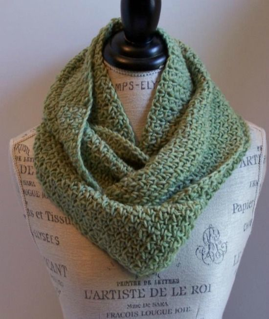 Contemporary Crochet Pattern For Infinity Scarves Illustration