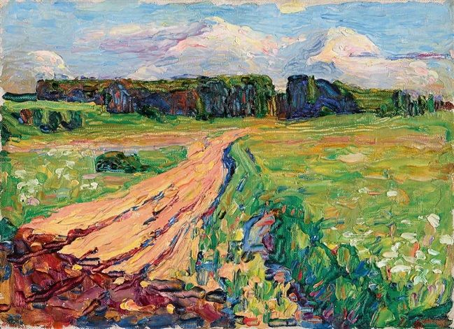 Planegg I – Landscape near Munich by Wassily Kandinsky